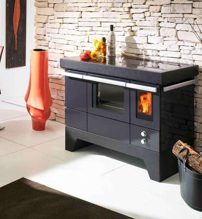 cuisini re bois pellet carat lohberger art du feu. Black Bedroom Furniture Sets. Home Design Ideas